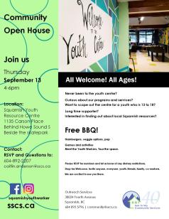 Open House Sept 13